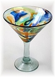 Classic Martini / Margarita Glass<br>15 oz. Solid Confetti<br>Hand blown glass from Mexico